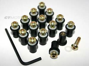 Ducati-Fairing-bolt-nut-screw-kit-748-916-996-998-GOLD