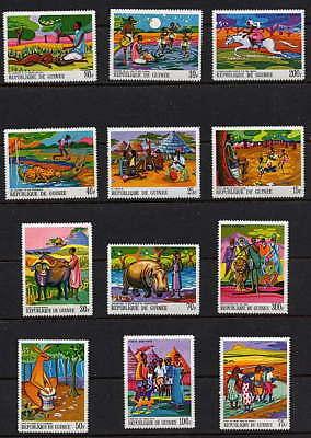 GUINEA 1968 LEGENDS & ANIMALS MINT SET - $12.75 VALUE!