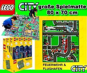 Lego City Spielteppich Spielmatte Flughafen Feuerwehr Ebay