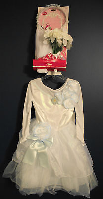 Disney Store Cinderella Wedding Costume & Veil Xxs 2/3