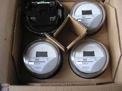 Itron Watthour Meter Kwh  C1s  Reset To Zero  Lot Of 4