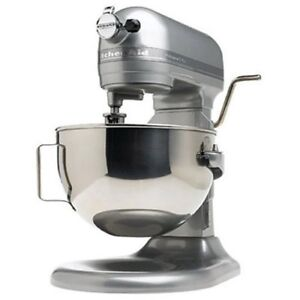 kitchenaid rkg25hoxsl pro stand mixer hd heavy duty large big size 5 qt silver ebay. Black Bedroom Furniture Sets. Home Design Ideas
