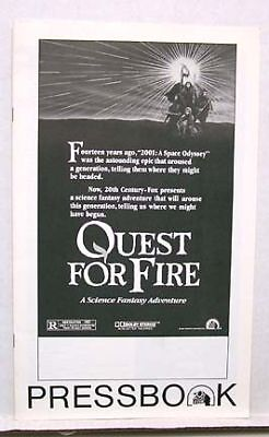 1982 Pressbook QUEST FOR FIRE Ron Pearlman