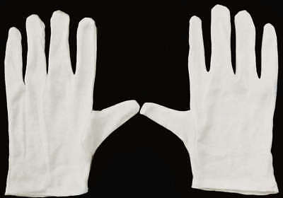 12 Pair Cotton Inspection Gloves - Coin Jewelry Photo
