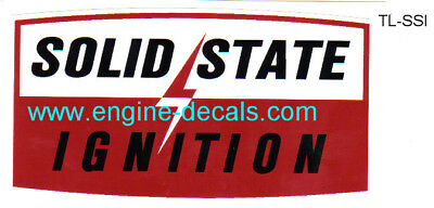 Tecumseh Solid State Ignition Decal 70's Wheel Horse