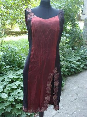 1950's FASHION VINTAGE WOMAN SILK NIGHT GOWN DRESS