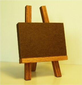 Su-Bee-ACEO-Mini-5-1-2-034-Red-Oak-Easel-amp-5-Wood-Plaques