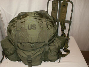 LARGE-OD-Olive-Drab-ALICE-Field-Pack-LC-1-with-FRAME-Rucksack-VG-EXC-Condition