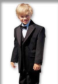New-Black-Boy-Tuxedo-W-vest-baby-toddler-formal-suit