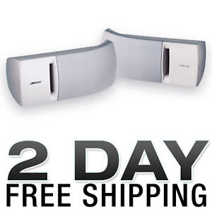 BOSE-161-SPEAKER-SYSTEM-WITH-BRACKETS-WHITE-PAIR-NEW
