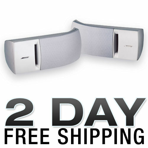 Bose 161 Speaker System With Brackets - White Pair