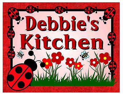 Personalized Ladybug Design Kitchen Magnet