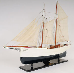 Wander-Bird-Pilot-Schooner-Ship-Wood-Model-Sailboat-38