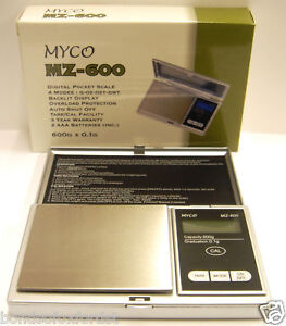 MYCO MZ-600 DIGITAL POCKET SCALE 600G x 0.1G