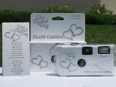 12 Happy Hearts Disposable Wedding Cameras,
