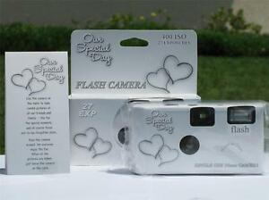 10 Happy Hearts Disposable Wedding Cameras, NEW!