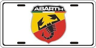 Abarth Fiat Spider Metal License Plate Auto 2705