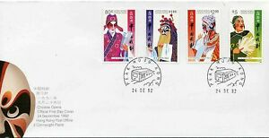 HONG-KONG-1992-CHINESE-OPERA-SET-ON-ILLUST-FDC