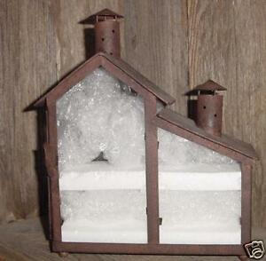 NEW-COUNTRY-PRIMITIVE-RUSTY-METAL-GLASS-TEALIGHT-HOUSE