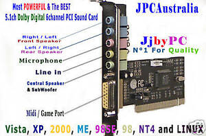 DOLBY-DIGITAL-5-1-DSP-6-Ch-3D-PCI-SD-SOUND-CARD-Perfect-Sound-for-OLD-PC
