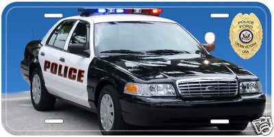 Police Car Ford Crown Victoria Novelty License Plate