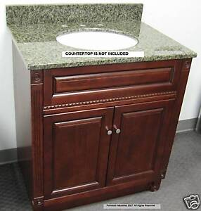 cherry bathroom storage cabinet 24 034 bathroom vanity cabinet cherry finish new ebay 13485