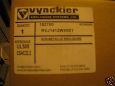 Vynckier 14x12 Non Metallic Enclosure Rvj1412wx001