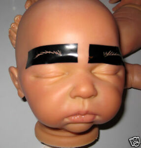 REALISTIC-REBORN-BABY-DOLL-EYEBROW-STENCILS-12-sets-OOAK-Fast-delivery-easy2use