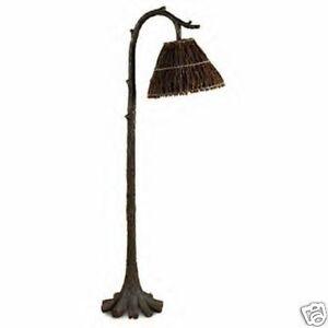 tree trunk floor lamp rustic lodge design. Black Bedroom Furniture Sets. Home Design Ideas