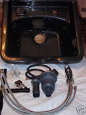 Shampoo Bowl Black Plastic
