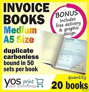 20-x-Printed-QUOTE-TAX-INVOICE-Books-FREE-POST