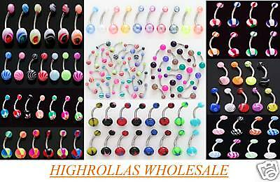 14g Belly Rings WHOLESALE Navel Body Jewelry Lot 50100