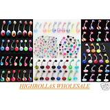 14g Belly Rings WHOLESALE Navel Body Jewelry Lot 50-100