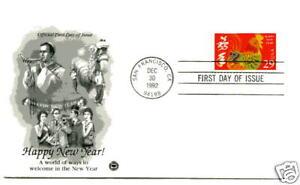 2720-Lunar-New-Year-1992-Rooster-ArtCraft-PCS-FDC