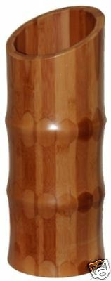 "Bamboo Vase 14"" Tall - Asymmetrical Carbonized Color"