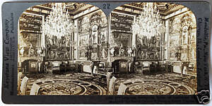 Keystone-Stereoview-In-Palace-of-Fountainebleau-FRANCE