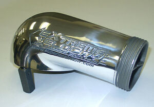Extreme Velocity Carb Hat Bonnet 4150 Polished O-ringed