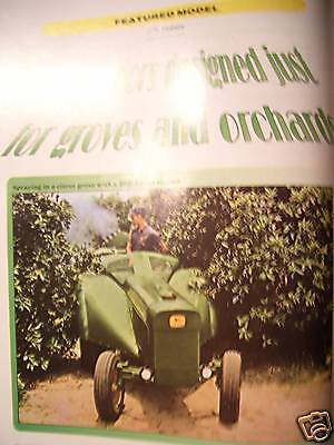 John Deere Orchard   Grove Tractors Green Magazine Model 1020 3020 1010 Tractor