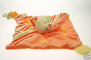 BABY-SAFE-SOFT-PLUSH-TOY-CAT-DOUDOU-COMFORTER-SECURITY-BLANKET-BOY-GIRL-GIFT-NEW