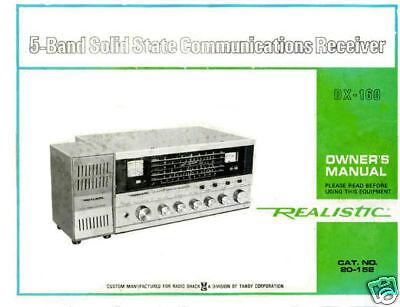 Realistic Dx-160 Shortwave Receiver Owner's Manual