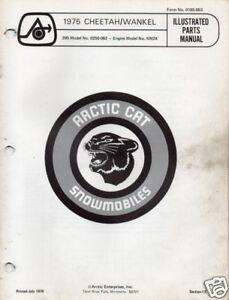 1975 ARCTIC CAT SNOWMOBILE CHEETAH WANKEL PARTS MANUAL   free shipping!