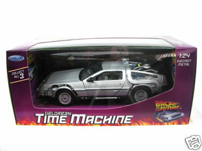 Welly Delorean Part I Time Machine 1/24 Diecast Car