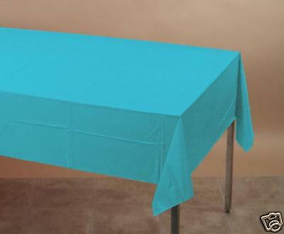Touch of Color, Plastic-Lined Paper Table Cloth, 54x108