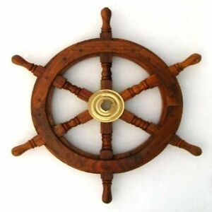 SHIP-WHEEL-WOODEN-15-D-NAUTICAL-SHIP-WHEEL-PIRATE-BOAT-NAUTICAL-DECOR