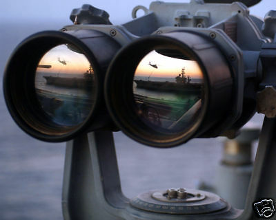 "SUN SETS OVER ""BIG EYES"" BINOCULARS 8X10 PHOTO US NAVY"