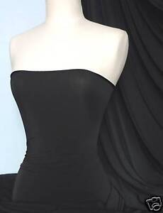 Black silk touch 4 way stretch jersey lycra fabric