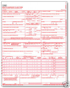 Medical Billing Health Insurance Claim Forms, 50 Sheets ...