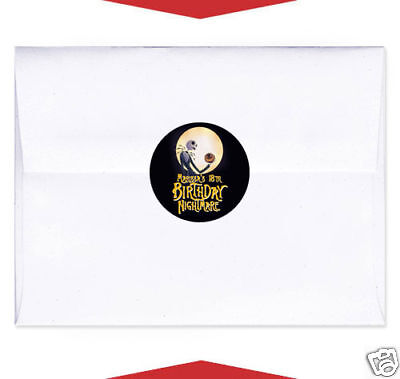 24 Nightmare Before Christmas Party Envelope Seals