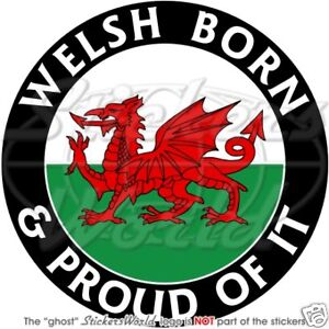 WALES-Welsh-Born-Proud-CYMRU-UK-Bumper-Sticker-Decal