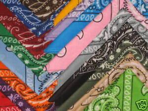 Premium-BANDANA-Color-Coton-BANDANNAS-Biker-Scarf-Rag
